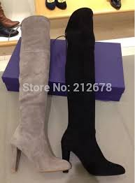 highland thigh high boots suede knee boots grey black beige