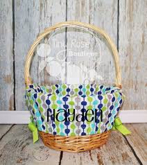 personalized easter basket liners best 25 monogrammed easter baskets ideas on letter