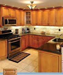 Kitchen Design Black Appliances Golden Oak Cabinets Enhanced With Mahogany Gel Stainkitchen Paint