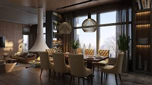 Luxury Living Room And Kitchen 3 Luxury Homes Taking Different Approaches To Wall Art