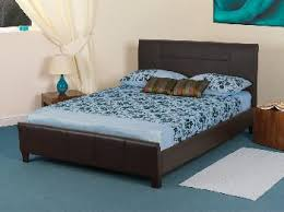sweet dreams grouse single brown faux leather bed frame single