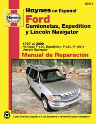 ford camionetas expedition y lincoln navigator haynes manual de