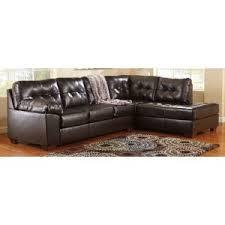 Ashley Raf Sofa Sectional Alliston Db Raf Chocolate Sectional Sofa By Ashley Furniture