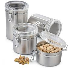 oggi kitchen canisters oggi 4 pc stainless steel canister set jcpenney