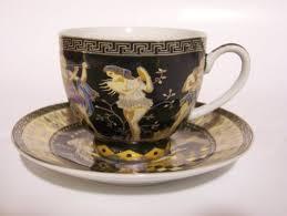 fancy coffee cups 12 piece beautiful greek design fine porcelain espresso set 6 cups