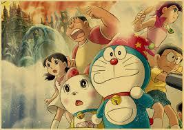 online shop doraemon classic anime nostalgic poster kraft paper