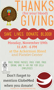 donate food for thanksgiving thanks for your blood giving blood drive fundraiser u2013 globemed