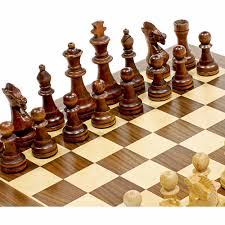Wooden Chess Set by Traditional Staunton Wood Chess Set 14 75