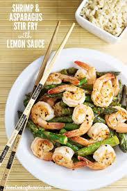 Asparagus Dishes Main Course - shrimp and asparagus stir fry with lemon sauce recipe home