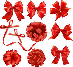 big ribbon big set of gift bows with ribbons vector stock vector