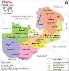 map of zambia political map of zambia zambia provinces map