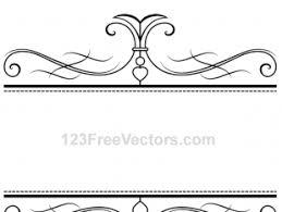 calligraphy ornamental frame vector graphics free vectors ui