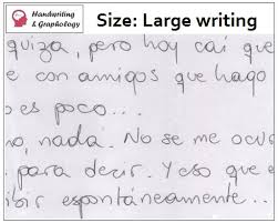 Definition Of Vanity Study Of Handwriting Meanings Of Sizes In Writing