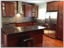kitchen backsplash ideas with cherry cabinets tray ceiling shed