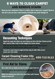 carpet cleaning foster city infographic