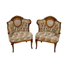 47 off french provincial floral with honeycomb accent chairs