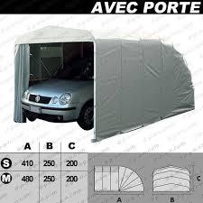porte box auto abri autobox eco garage avec porte pour protection de voitures