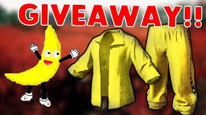 pubg yellow tracksuit pubg yellow tracksuit giveaway aka bananaman starter pack