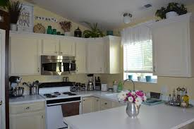 home decor decorating tops of kitchen cabinets modern home