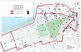 Map Copley Square Boston by Proposed Boston Literary Cultural District A Map Survey Report