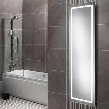 hib alto led tall bathroom mirror 425 x 1400mm 77420000 77420000