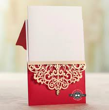 Cheap Wedding Invitations Online Elegant Red Wedding Invitation With Brown Trim U0026 Pearl Drop