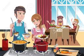 getting ready for thanksgiving dinner family dinner stock photos royalty free family dinner images and