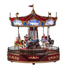 shop carole towne pre lit musical carousel tabletop decoration