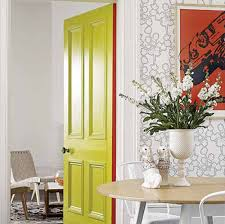 Interior Door Color Yellow Interior Door For The Kitchen Home Designs Project