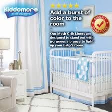 Spaceship Crib Bedding by Amazon Com Kiddomore Breathable Airflow Rail Cover And Bumper