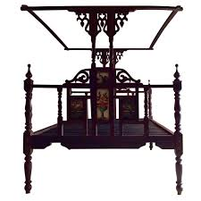 Heaven Antiques And Custom Furniture Los Angeles Ca Antique Zanzibar Bed Four Poster Campaign Victorian 19th Century
