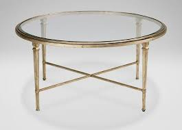 gold leaf coffee table leaf frame glass round coffee table