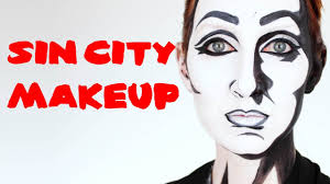 party city halloween makeup halloween sin city comic book makeup youtube