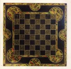 antique 1800 u0027s slate multi colored chess board collectors weekly