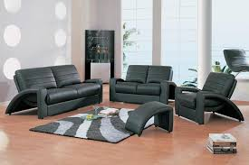 Contemporary Black Leather Sofa The Futuristic Design Of Contemporary Black Leather Sofa Set In A