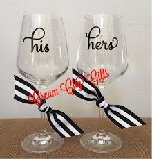 his hers wine glasses his hers glass set city gifts