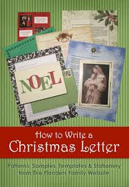 christmas letters patterns samples and templates