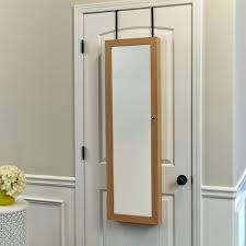 jewelry armoire oak finish bedroom wall mount rectangular oak wood jewelry mirror armoire