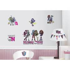 monster high home decor roommates monster high peel stick wall decals home home