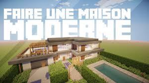 Maison Modern Minecraft by Faire Une Maison Moderne Dans Minecraft Youtube