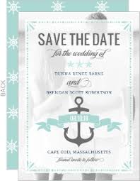 nautical save the date themed save the dates by wedding paperie