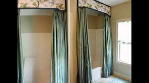 Drapery Valance Bathroom Decoration Ideas Using Shower Curtain Valance Youtube