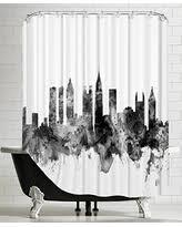 Skyline Shower Curtain Spectacular Deal On American Flat