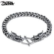 dragon bracelet silver images Zabra genuine 925 sterling silver couple dragon bracelet men jpg