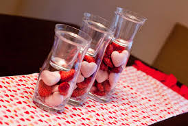 Diy Table Decorations Decorations Simple Diy Candy In Glass Valentine Table Decor With