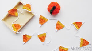 Halloween Garland These Crochet Candy Corn Streamers Are Perfect For Halloween