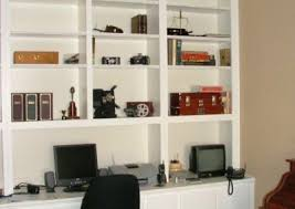 Desk And Bookshelves by Custom Home Office Cabinets And Built In Desks