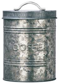 coffee kitchen canisters amici home rustic kitchen galvanized metal canister coffee