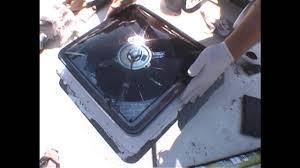 Rv Bathroom Fan Blade Replacement Truck Camper Bathroom Fan Replacement Youtube