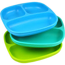 baby plates re play 3 pack divided plates bpa free walmart